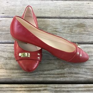 New Nine West Red Ballet Flats Size 8 M